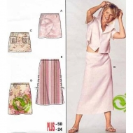 Burda 8344 Skirt Size 36-50