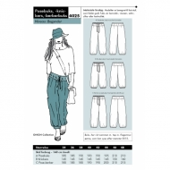 sewing pattern Onion 4025 pants Size 34-48