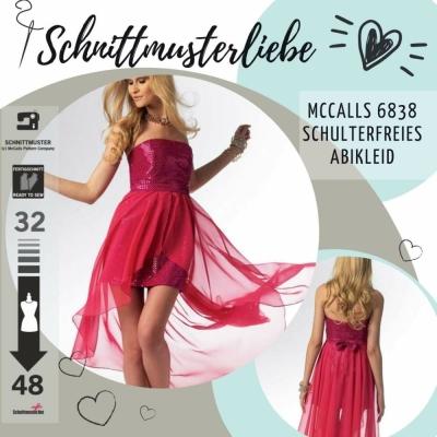 d262881459c2 Schnittmuster McCalls 6838 Abendkleid Gr. 32-48