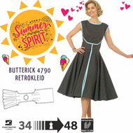 Schnittmuster Butterick 4790 Retro 1952, Vintage...