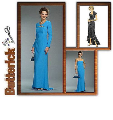 sewing pattern Butterick 4731 Evening Dress
