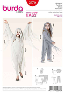 Sewing Pattern Burda 2370 costume Gespenst size 4-12...