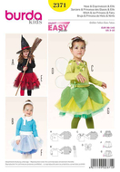Sewing Pattern Burda 2371 costume Hexe, Eisprinzessin...