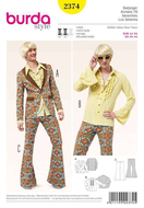 Schnittmuster Burda 2374 Cosplay wie Austin Powers Gr. 44-54