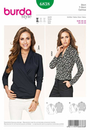 Sewing Pattern Burda 6838 Shirts size 10-20 (36-46)