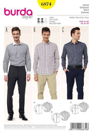 Sewing Pattern Burda 6874 Shirts size 34-50 (44-60)