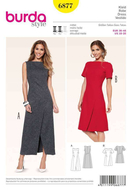 Sewing Pattern Burda 6877 dresse  size 10-20 (36-46)