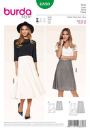 Sewing Pattern Burda 6880 skirt size 10-20 (36-46)