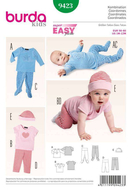 Sewing Pattern Burda 9423 combi size 1M-12M (56-80)