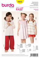 Sewing Pattern Burda 9432 sleepwear size 3-10 (98-140)