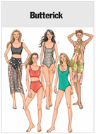 sewing pattern Butterick 4526 Misses Swimsuit, Bikini and...