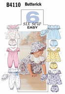 sewing pattern Butterick 4110 Baby