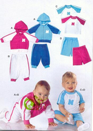 Sewing pattern Burda 9748 Baby Size 68-98