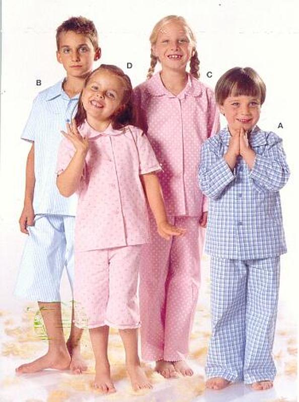 Schnittmuster Burda 9747 Pyjama Gr. 98-170