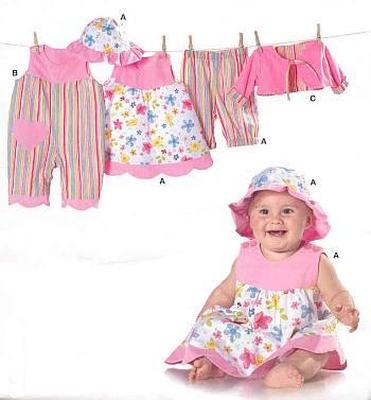 Schnittmuster Burda 9712 Baby-Kombi bei Schnittmuster.Net ...