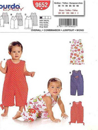 Sewing pattern Burda 9652 Overall Size 68-98 (Sizes 6M-3)