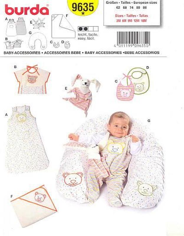 schnittmuster burda 9635 baby bei schnittmuster net schnittmuster net schnitte hefte stoffe. Black Bedroom Furniture Sets. Home Design Ideas