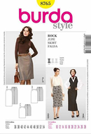 Sewing pattern Burda 8765 Skirt Size 36-54, PlusSize