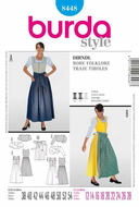 Sewing pattern Burda 8448 Dirndl sizes 12-28 (38-54)