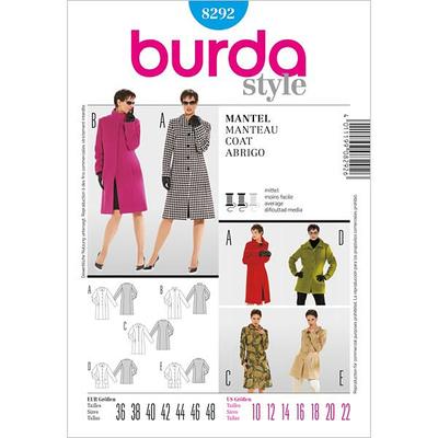 Coat 48 Pattern Sewing Burda 36 8292 Size kXPZiwlOuT