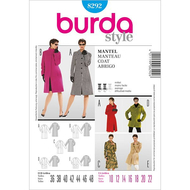 Sewing pattern Burda 8292 Coat Size 36-48