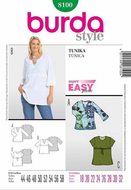 Sewing pattern Burda 8100 Tunic Size 44-58