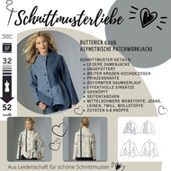 englisches Schnittmuster Butterick 6106 Jacke Gr.Y XS-M...