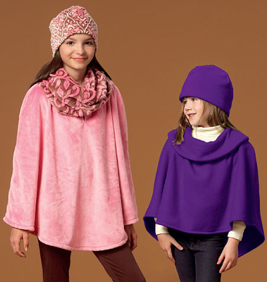 englisches Schnittmuster McCalls 7012 Teen Poncho Gr. CX XS-S oder CZ M-XL