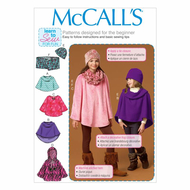 Schnittmuster McCalls 7012 Teen Poncho Gr. CX XS-S oder...