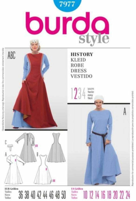 Sewing pattern Burda 7977 History Size 36-50