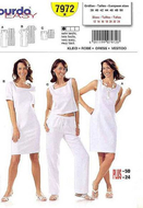 Sewing pattern Burda 7972 Dress Size 36-50 (Sizes 10-24)