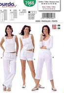 Schnittmuster Burda 7966 Hose Gr. 38-50 (Sizes 12-24)