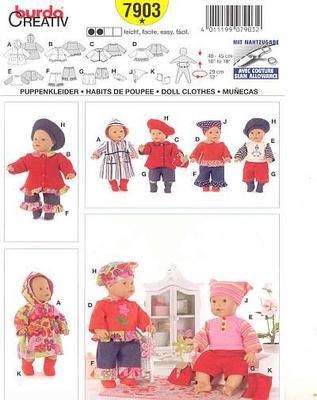Schnittmuster Burda 7903 Puppen bei Schnittmuster.Net ...