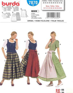 Sewing pattern Burda 7870 dress Size 38-56