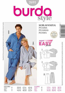 Sewing pattern Burda 2691 Pyjama Size 38-48 and 44-54