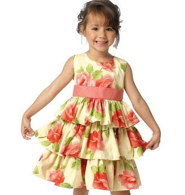 Schnittmuster Butterick 6161 Mädchenkleid bei Schnittmuster.Net ...