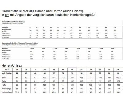Wei/ß 42-44-46-48-50 McCalls Patterns McCalls Schnittmuster f/ür Damen mit offenem Ausschnitt Gr/ö/ßen 42-50