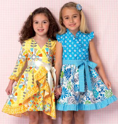 Schnittmuster KwikSew 0199 Mädchenkleid bei Schnittmuster.Net ...
