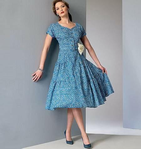 Schnittmuster Vintage-Sommerkleid Gr.40-48