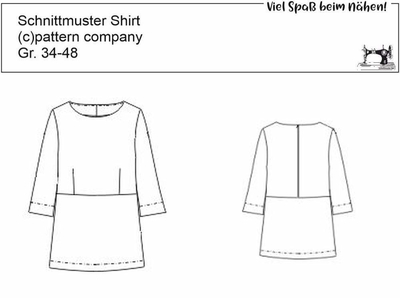 Schnittmuster pattern company 03679 zweifarbige Damenbluse Gr. 34-48