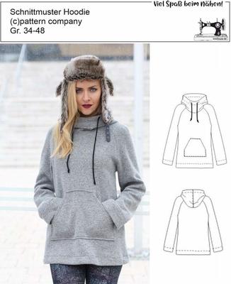 Trendy Hoodies für Damen - Schnittmuster.Net Schnitte, Hefte, Stoffe,