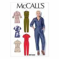 Schnittmuster McCalls 7330 Damenoverall Gr. Gr.Y XS-S-M...