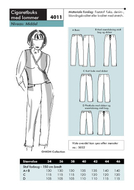Sewing pattern Onion 4011 Pants Size 34-46