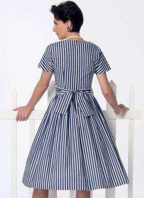 Mehrfarbig 22 Schnittmuster Kleid und G/ürtel Gr/ö/ßen 6 Butterick Patterns Butterick 6437/A