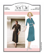 Englisches Schnittmuster Sew chic 8404 Constance Retro...