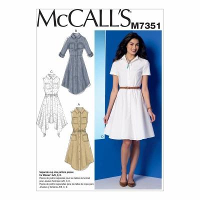 Schnittmuster McCalls 7351 Damenkleider bei Schnittmuster.Net ...