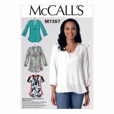 Schnittmuster McCalls 7357 Damenshirts bei Schnittmuster.Net ...