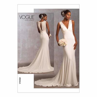 Schnittmuster Vogue 1032 Brautkleider Bei Schnittmuster Net