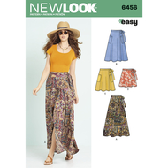 english paper sewing pattern NewLook 6456 skirts sizes A...