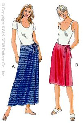 Sewing pattern KwikSew 2954 Skirt XS-S-M-L-XL